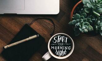 咖啡爱好者的花艺字体