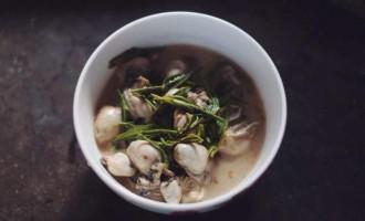 山海珍味:崂山春绿牡蛎汤